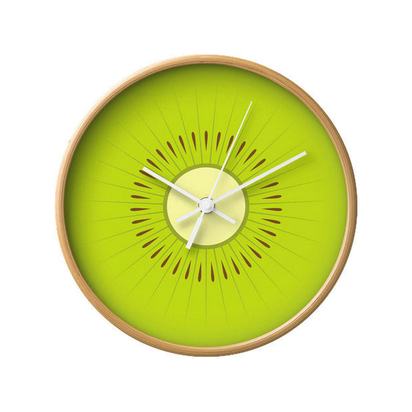 Kiwi wall clock. Green kitchen wall clock - Latte Design  - 4