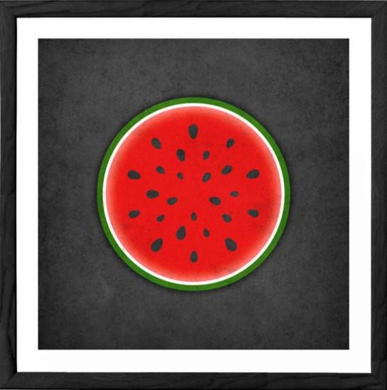 Watermelon print. Red kitchen print - Latte Design  - 1