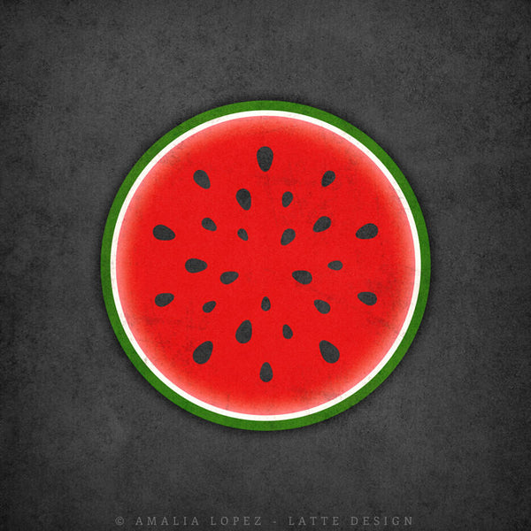 Watermelon print. Red kitchen print - Latte Design  - 3