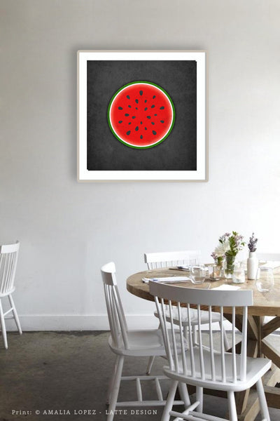 Watermelon print. Red kitchen print - Latte Design  - 2