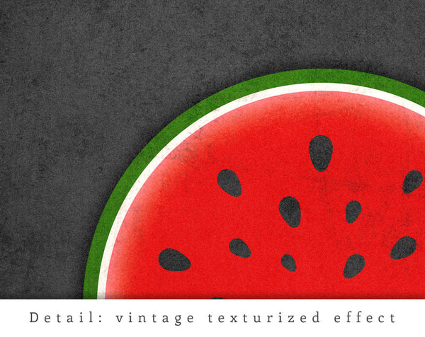 Watermelon print. Red kitchen print - Latte Design  - 6
