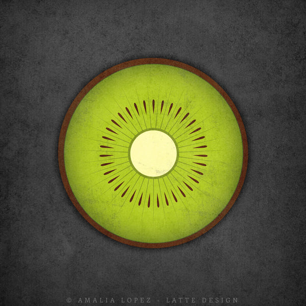Kiwi print. Green kitchen print - Latte Design  - 3