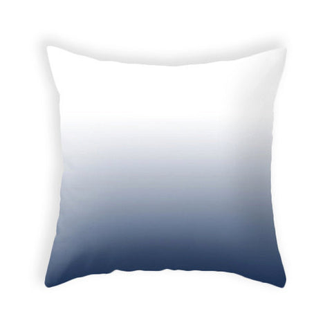 Indigo blue ombre pillow - Latte Design  - 1