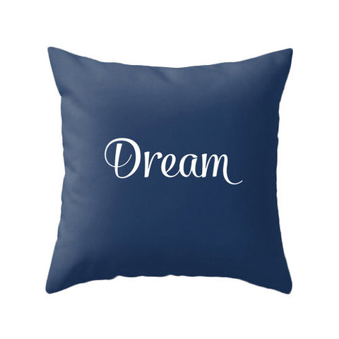 Indigo blue Dream pillow - Latte Design  - 1
