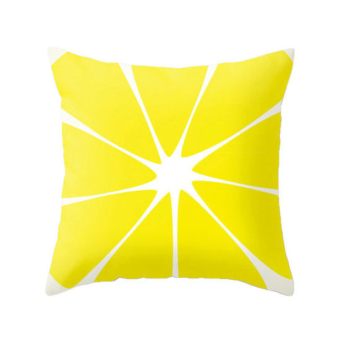 Lemon. Yellow pillow - Latte Design  - 1
