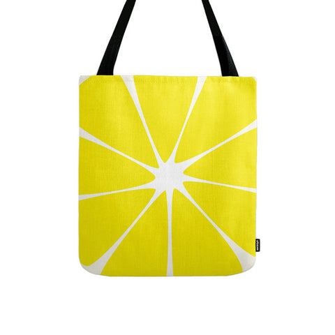 Lemon. Yellow tote bag