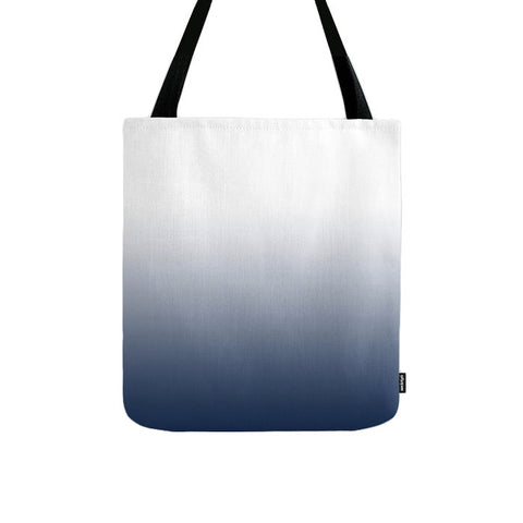 Indigo blue ombre tote bag