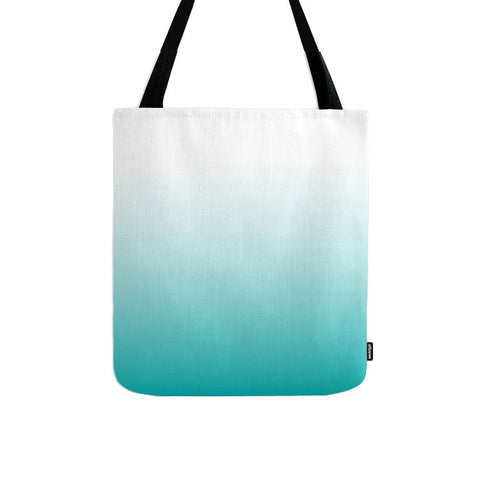 Turquoise ombre tote bag