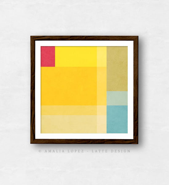 Abstract 1. Yellow geometric print - Latte Design  - 6