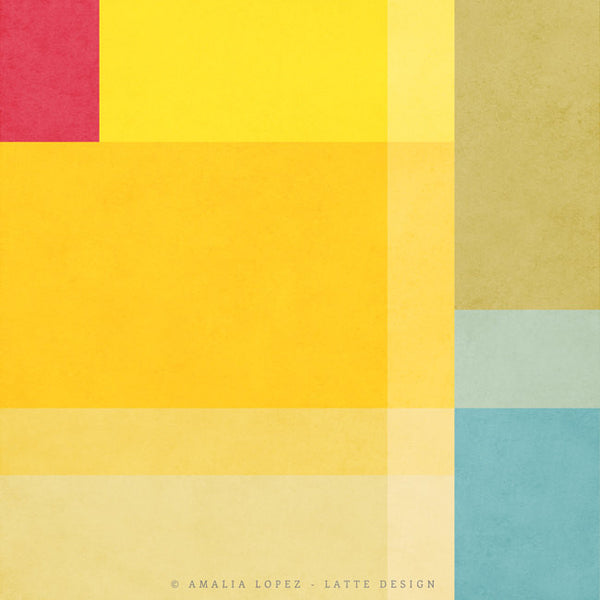 Abstract 1. Yellow geometric print - Latte Design  - 4
