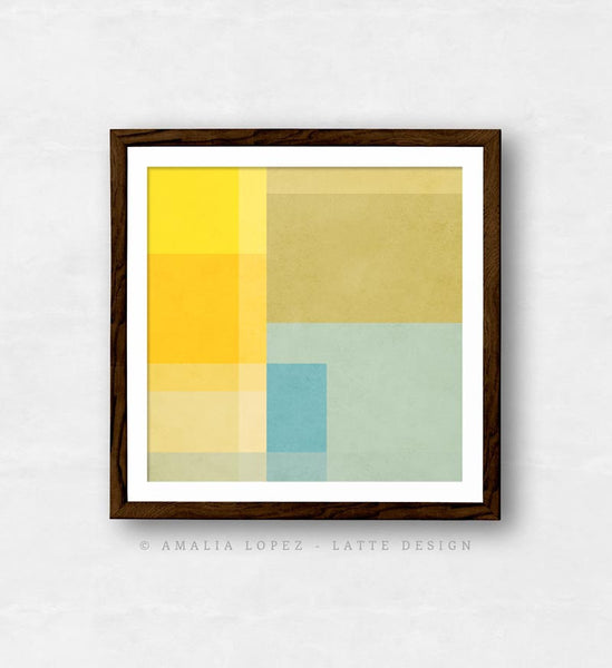 Abstract 2. Yellow geometric print - Latte Design  - 6