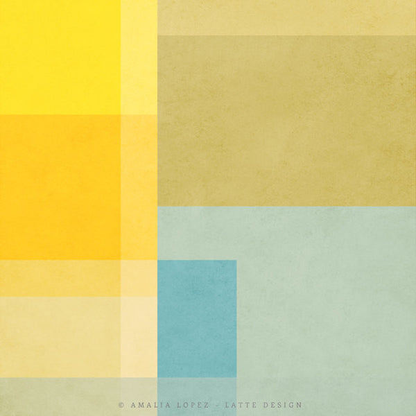 Abstract 2. Yellow geometric print - Latte Design  - 4