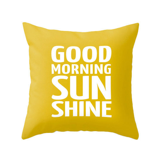 Good morning sunshine pillow. Yellow typography pillow - Latte Design  - 2