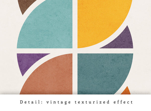 Circles Interlaced 2. Geometric art Retro wall art - Latte Design  - 5
