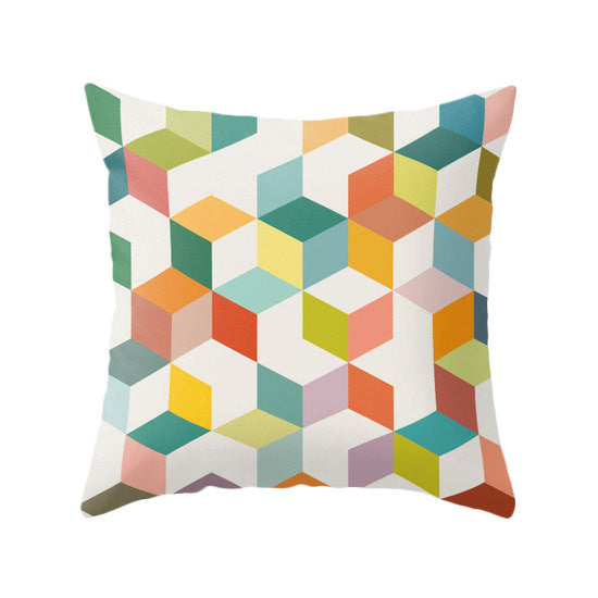 Geometric 3. Geometric pillow - Latte Design  - 1