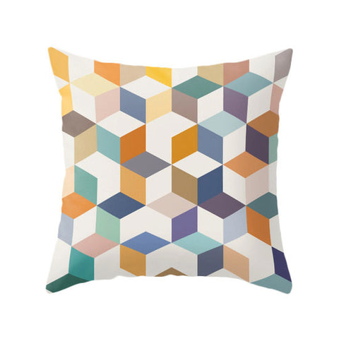 Geometric 2. Geometric pillow - Latte Design  - 1