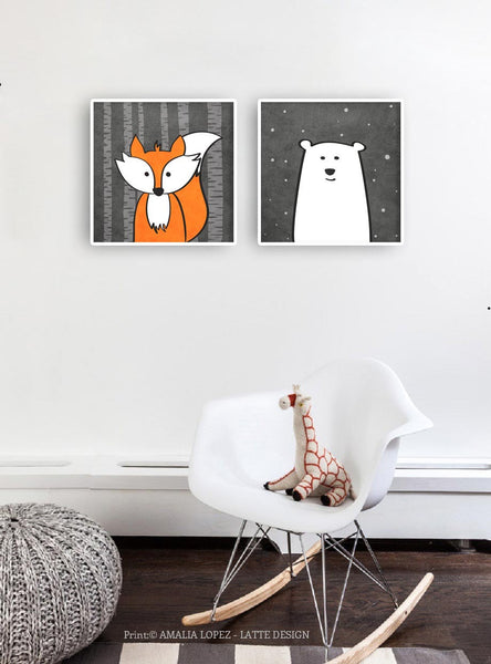 Fox print. Nursery print - Latte Design  - 5