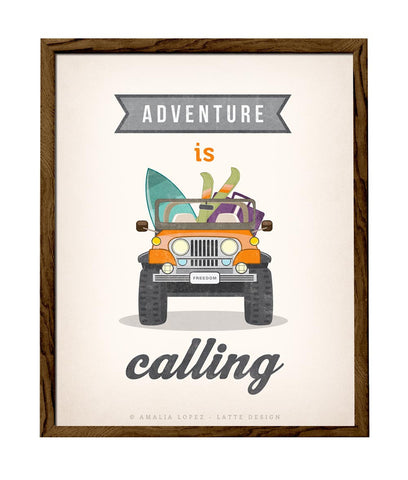 Adventure is calling. Jeep print. LD10013 - Latte Design  - 1