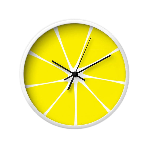 Lemon wall clock. Yellow kitchen wall clock - Latte Design  - 3