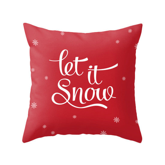 Let it snow. Red Christmas pillow - Latte Design  - 1