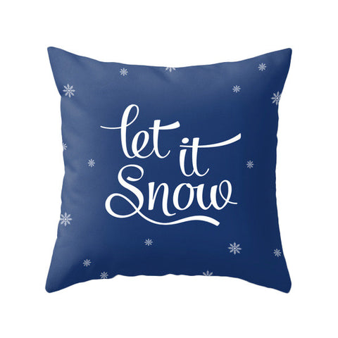 Let it snow. Blue Christmas pillow - Latte Design  - 1