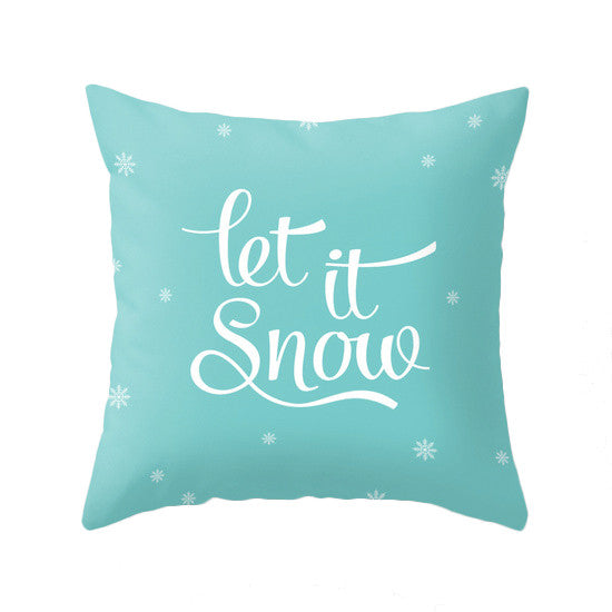 Baby it's cold outside. Turquoise Christmas pillow Snowflake pillow Blue Christmas decor Xmas pillow Robins egg blue Christmas decoration Teal Christmas cushion Xmas Turquoise pillow - Latte Design  - 2