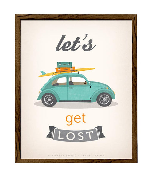 Let's get lost print. Beetle print. LD10014 - Latte Design  - 1