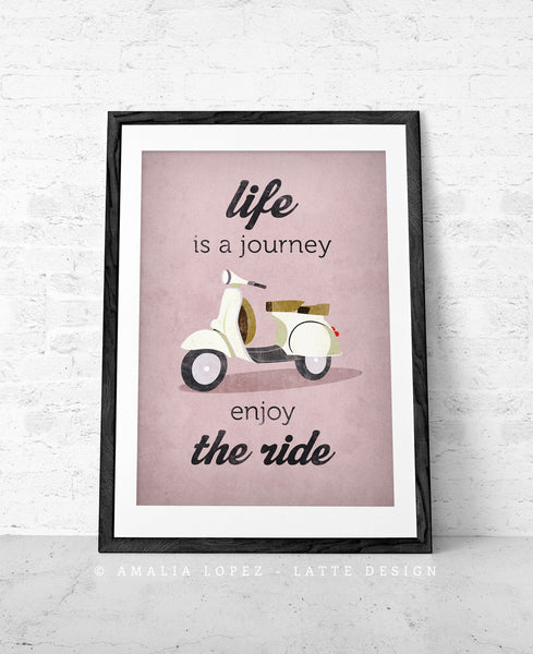 Life is journey enjoy the ride. Blue print - Latte Design  - 7