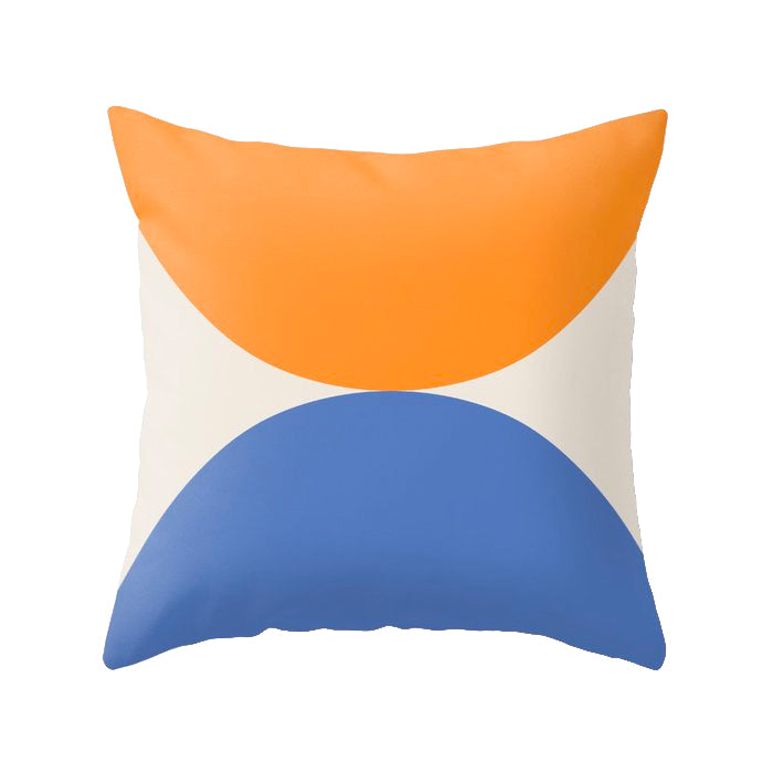 Orange and blue Geometric cushion