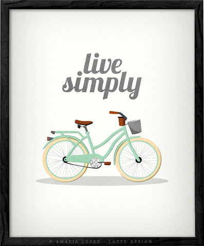 Live simply. Mint Vintage bike