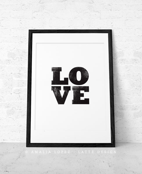 Love print. Black typographic - Latte Design  - 6