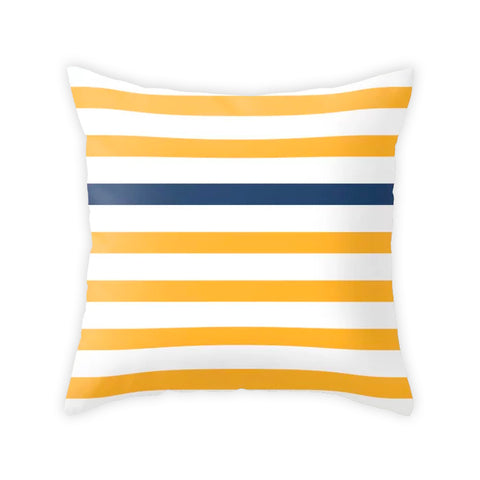 Yellow nautical cushion