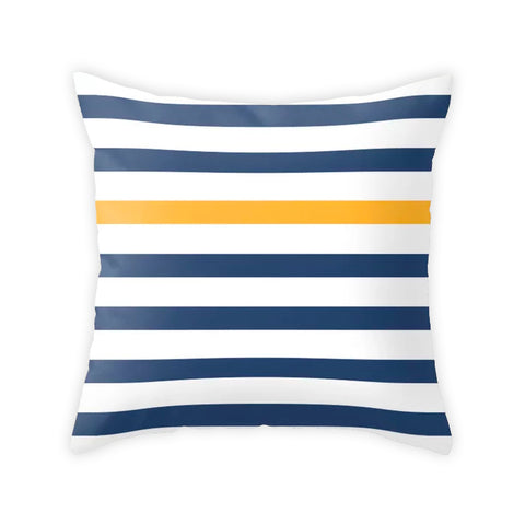 Blue nautical cushion