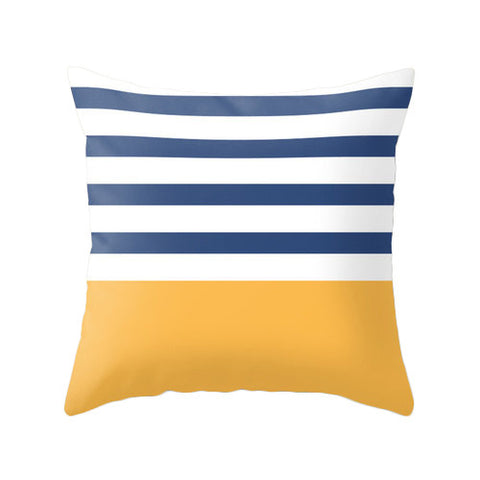Blue and yellow nautical cushion - Latte Design  - 1