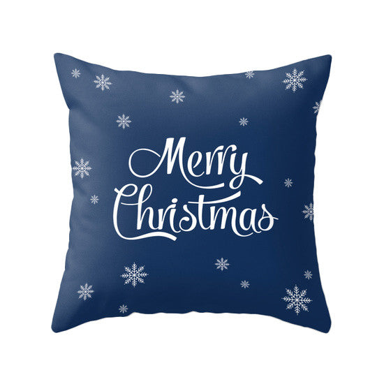 Babu it's cold outside. Blue Christmas pillow - Latte Design  - 4