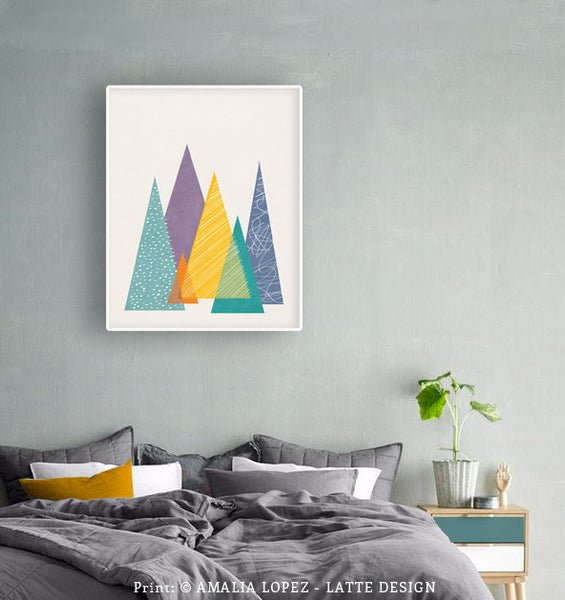 Mountains 1. Geometric print - Latte Design  - 2