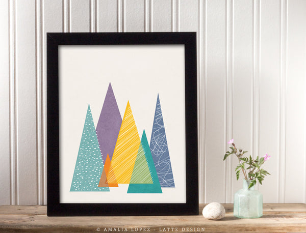 Mountains 1. Geometric print - Latte Design  - 3