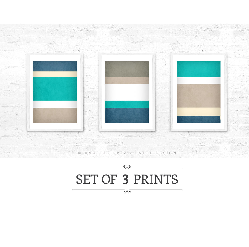 Stripes 4. Set of 3 PRINTS