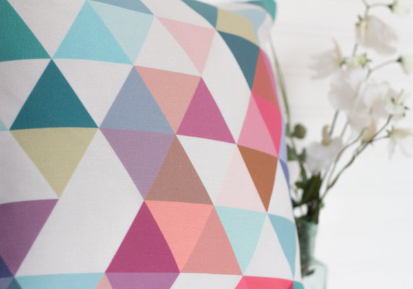 Triangles 1. Geometric pillow - Latte Design  - 2