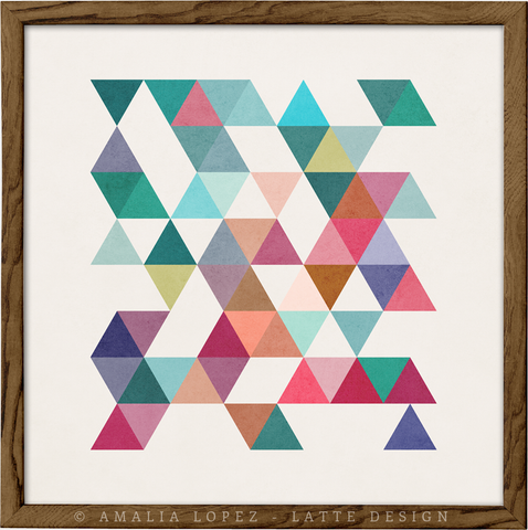 Triangles 1. Mid-century Geometric print