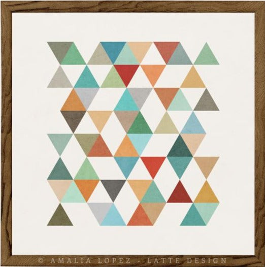 Triangles 4. Mid-century Geometric print