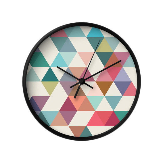 Triangles 1. Geometric wall clock - Latte Design  - 2