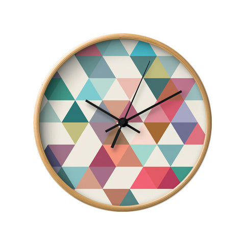 Triangles 1. Geometric wall clock - Latte Design  - 1