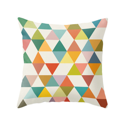 Triangles 3. Geometric pillow - Latte Design  - 1