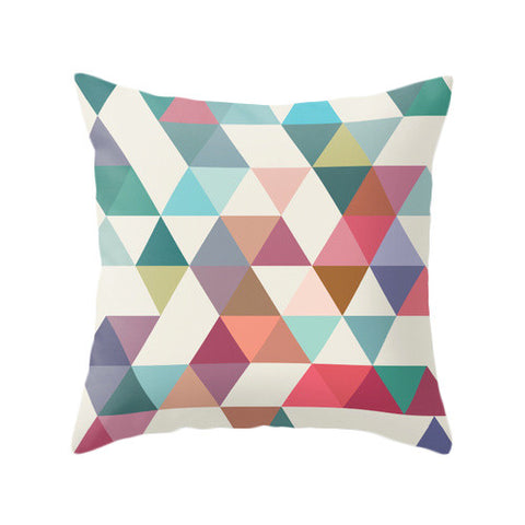 Triangles 1. Geometric pillow - Latte Design  - 1