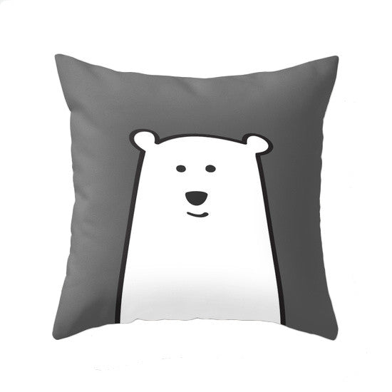 Polar bear pillow. Nursery pillow - Latte Design  - 1