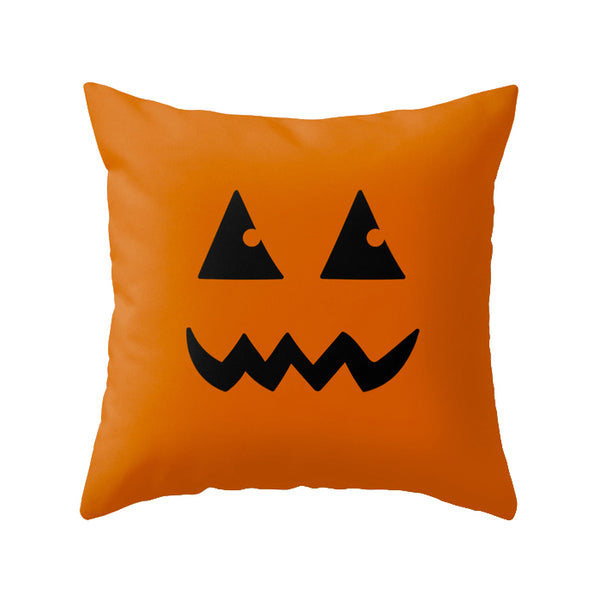Boo. Black Halloween cushion