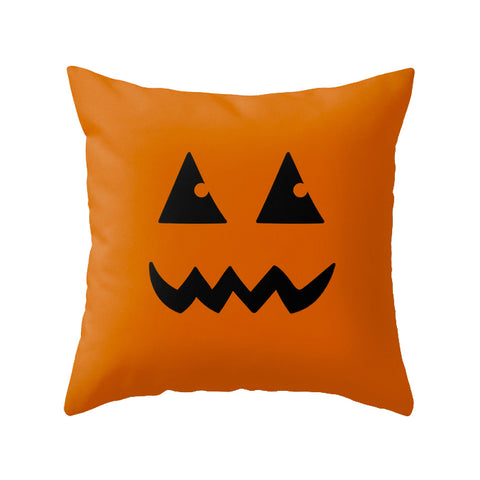 Pumpkin. Orange Halloween cushion