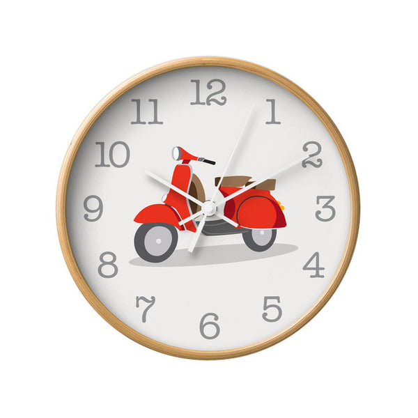 Green Vespa nursery wall clock - Latte Design  - 2