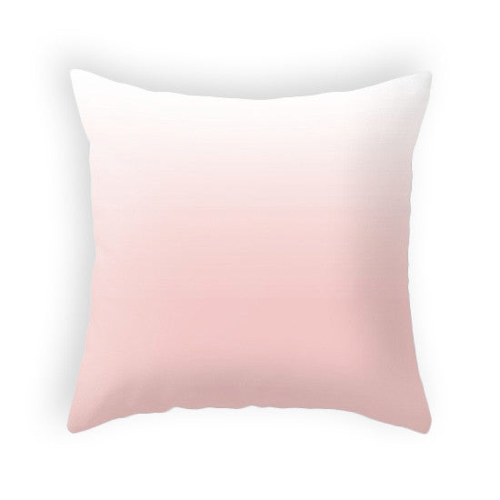 Rose quartz ombre pillow. Pantone color of the year - Latte Design  - 6